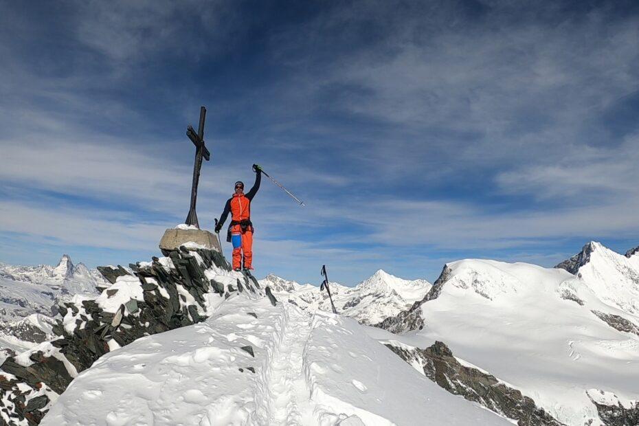 croce di vetta sull'Allalinhorn